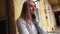 Deutsche Scout Tiffany Tatum zum Casting ueberredet und danach den fetten Schwanz rein geschoben