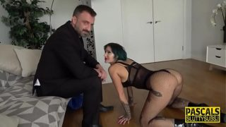 Fetish sub rides cock and gets mouth spermed