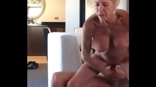Granny get fuck hard by son