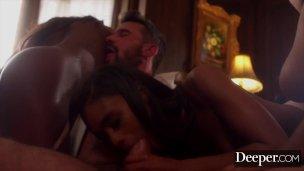 Deeper Demi ambushes Freund mit Schoko von hinten Sexorgie