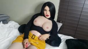 Frau Masking Fetish schwanger Silicone geile Hausfrau nette Pleasures sich selbst mit vibrator Rollenspiel